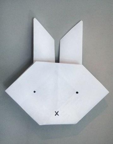 origami nyuszifej