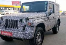 Next-Gen Mahindra Thar Spotted Testing Again