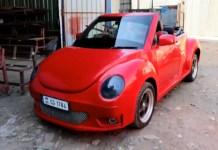Maruti Swift modified to look like Volkswagen Beetle