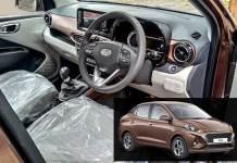Hyundai Aura interior details | Image Courtesy: AutocarIndia