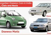 The Forgotten Daewoo cars in India | Matiz, Cielo and Nexia