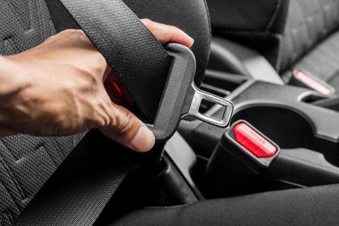 Seat belts in a car