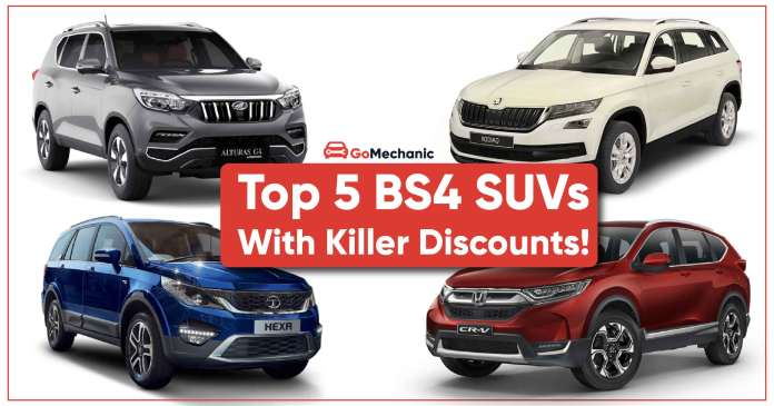Top 5 BS4 SUV With Killer Discounts: Last Chance To Buy One