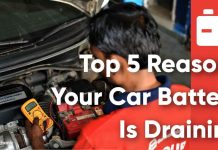 Top 5 Reasons Your Car Battery Is Draining