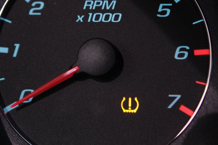 Tyre Pressure Monitoring System Dashboard Warning Light