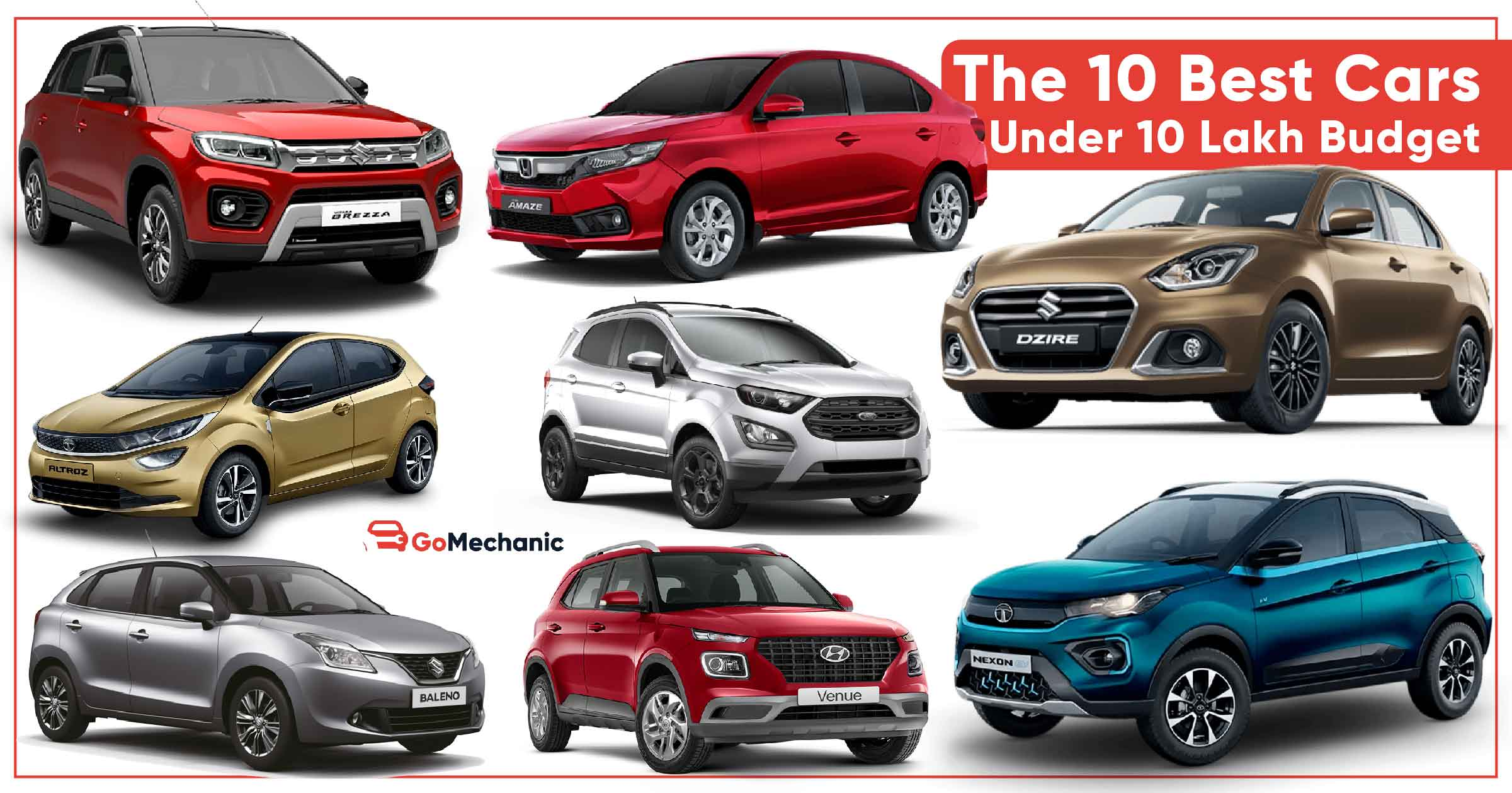 Top 10 Best Cars Under 10 Lakhs Budget