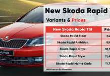 New Skoda Rapid TSI Variants & Prices
