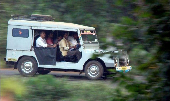 A typical 5-seater Jeep!