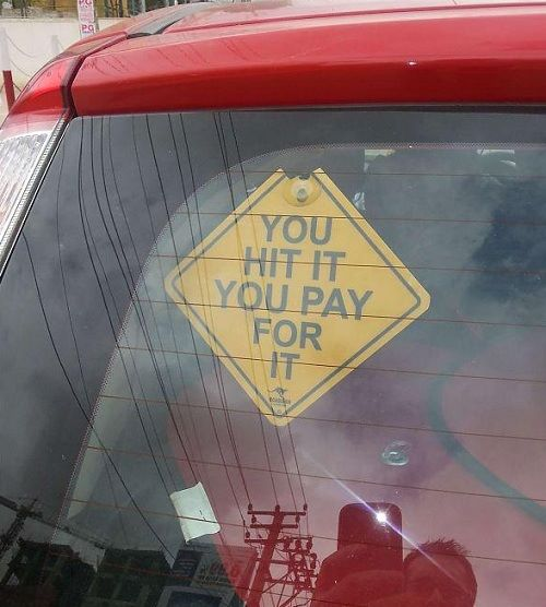 Hilarious car stickers India