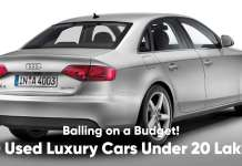 10 Used Luxury Cars Under 20 Lakhs