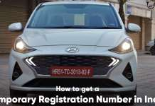 How to get a temporary registration number in India