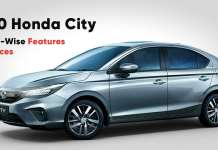 2020 honda city variant wise features and prices explained