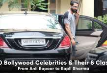 Bollywood Celebrities and the mercedes benz s class