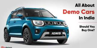 all about demo cars (test drive cars) in India