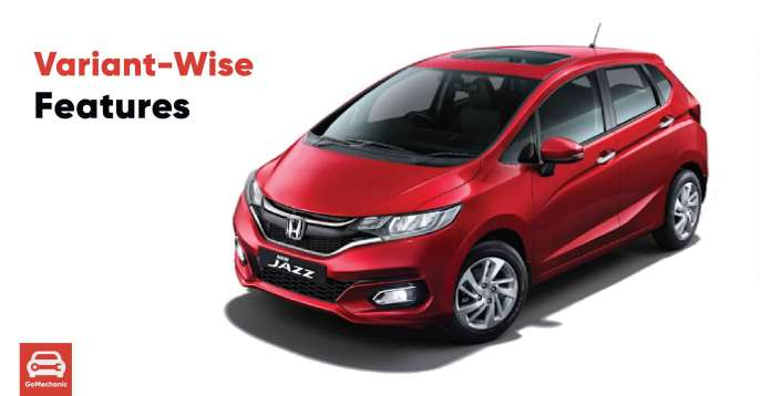 2020 Honda Jazz Variant Wise Features Leaked