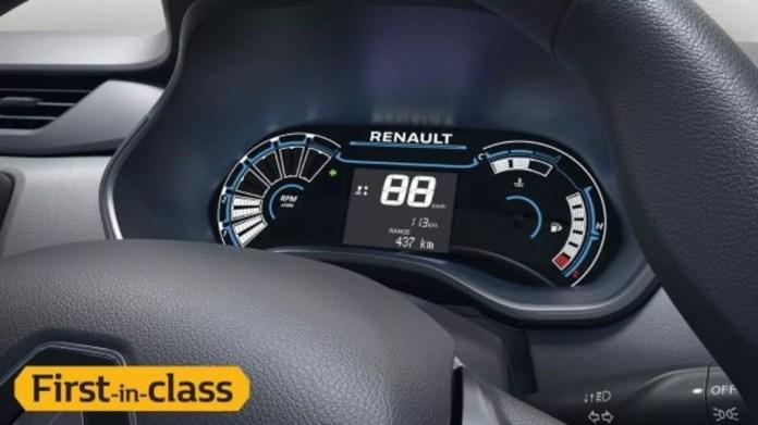 Digital Instrument Cluster in Renault Triber