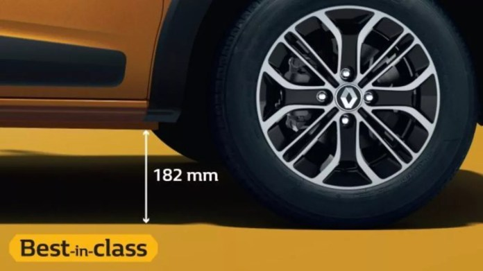 Ground Clearance of Renault Triber
