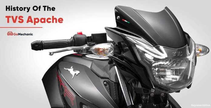 History of the TVS Apache India