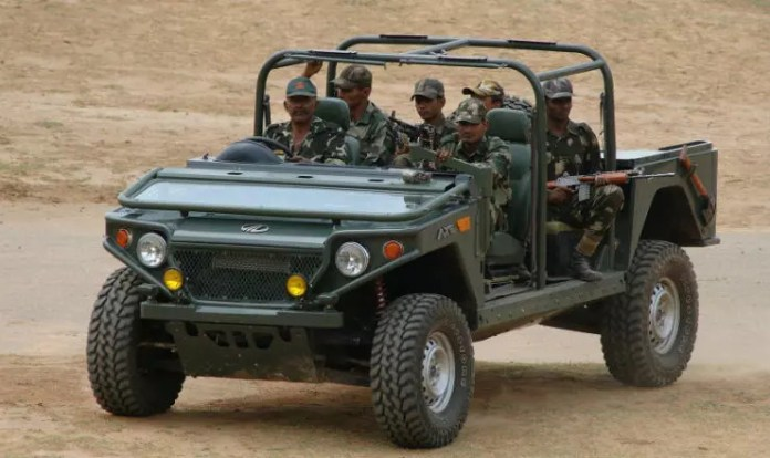 Mahindra Axe | Dropped down Windscreen for Weapon mounting