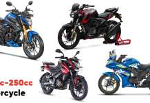 Best 200cc-250cc Motorcycle In India