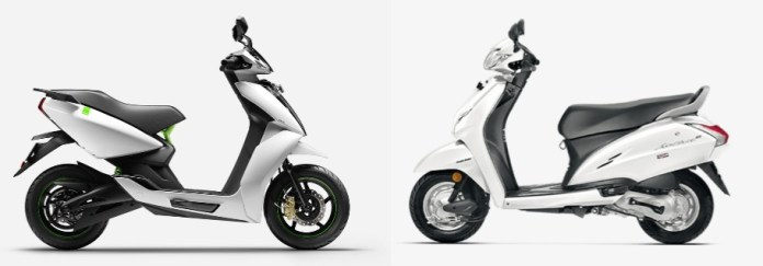 Electric Scooter vs ICE Scooter