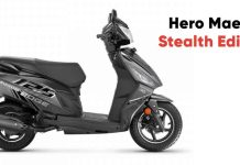 Hero Maestro Stealth Edition Launched