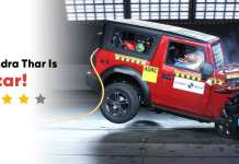 Mahindra Thar 4 Star Global NCAP Rating