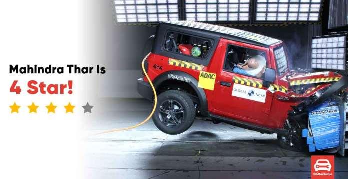 Mahindra Thar 4 Star Global NCAP Rating