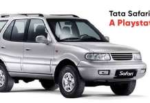 Tata Safari with a Playstation
