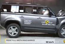 Land Rover Defender Euro NCAP Crash Test