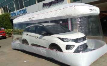 Tata Cars being delivered in a sanitised bubble