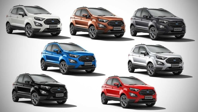 Ford EcoSport Colours
