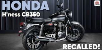 HONDA H'ness CB350 recalled