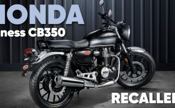 HONDA H'ness CB350 recalled