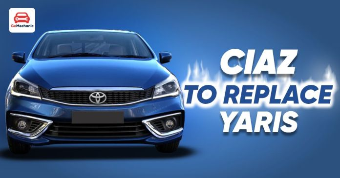 ciaz to replace yaris
