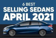Selling Sedans Apr. 2021 ft