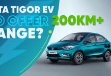 Tata Tigor EV to offer 200km+ Range