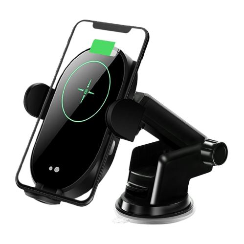 Phone holder with wireless charging