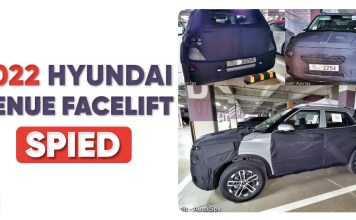 Hyundai Venue Facelift Spied Testing For First Time