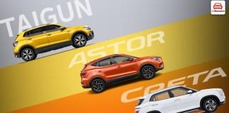 MG Astor VS Creta/Seltos VS Kushaq/Taigun- Detailed Comparison!