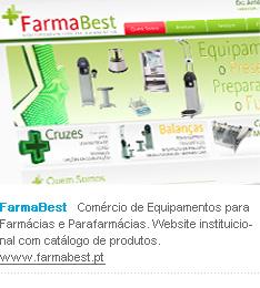 FarmaBest   Comércio de Equipamentos para Farmácias e Parafarmácias. Website instituicional com catálogo de produtos. www.farmabest.pt