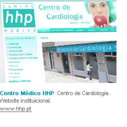 Centro Médico HHP  Centro de Cardiologia. Website instituicional.