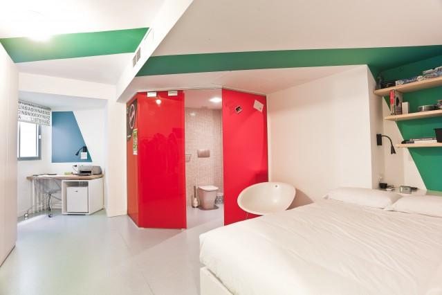 Habitacin individual con bao privado Residencia de