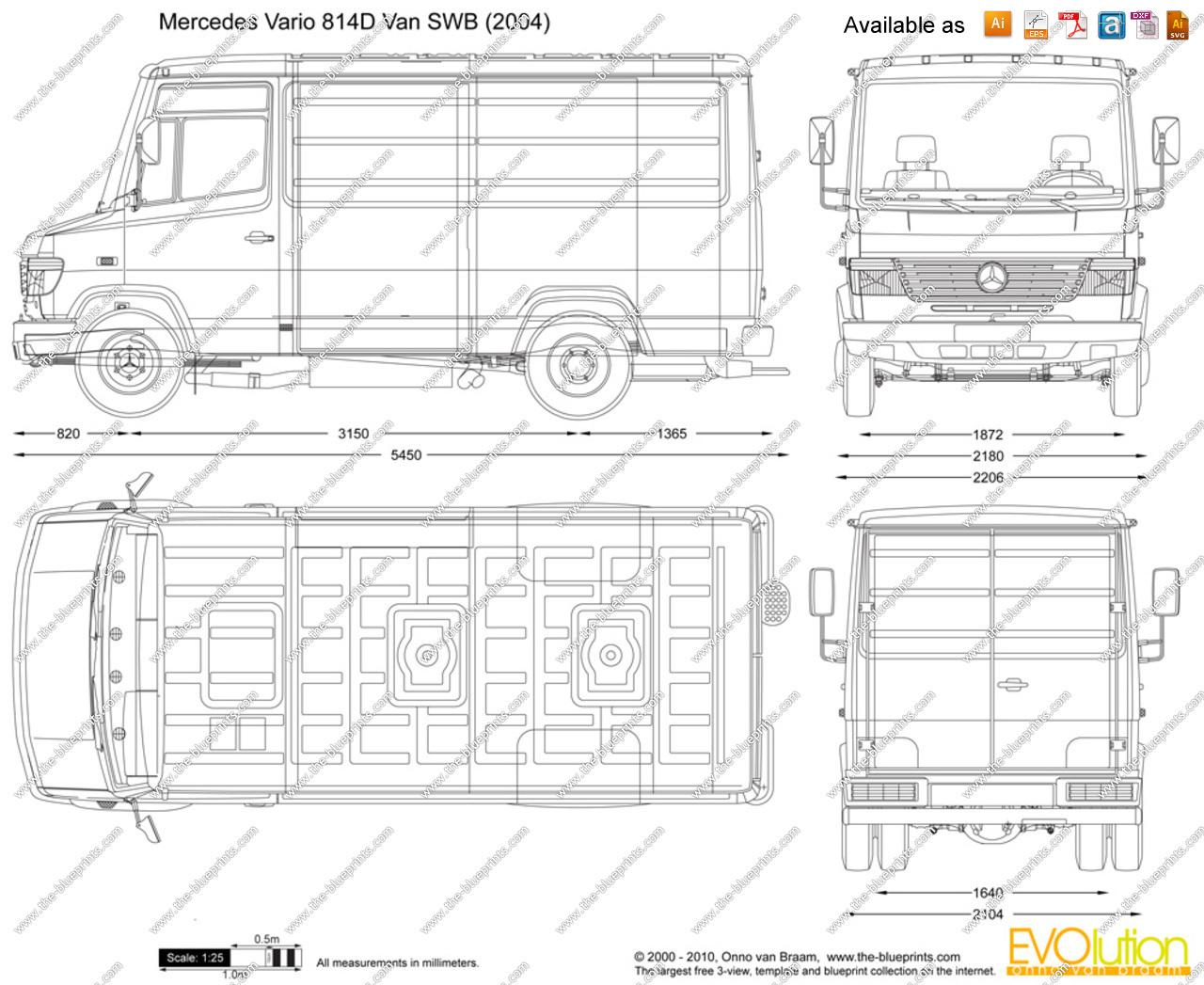 Mercedes vario 814d dimensions