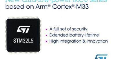 STM32 ailesinin yeni üyesi STM32L5 serisi