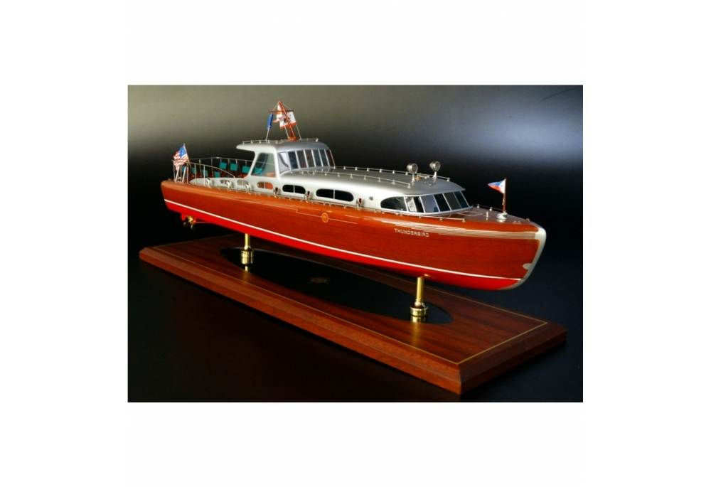Hacker Craft 55 Thunderbird Classic Speed Boat Model