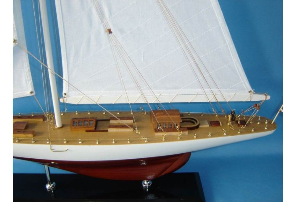 Americas Cup Sailboat Model Gretel Scaled Yacht Model