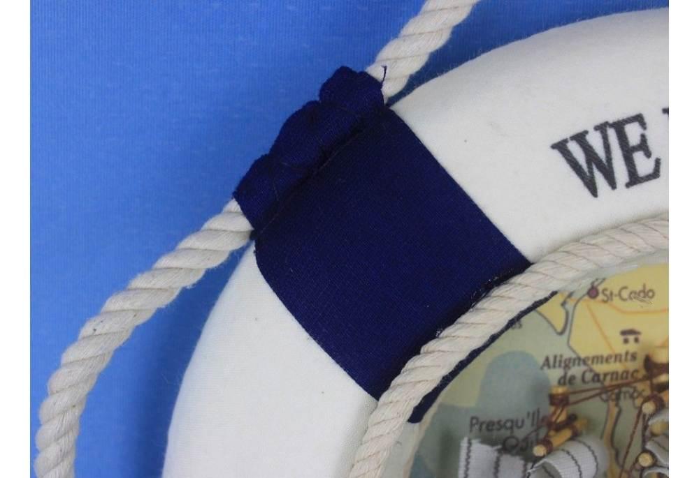 Blue Triple Lifering Welcome Aboard Clock
