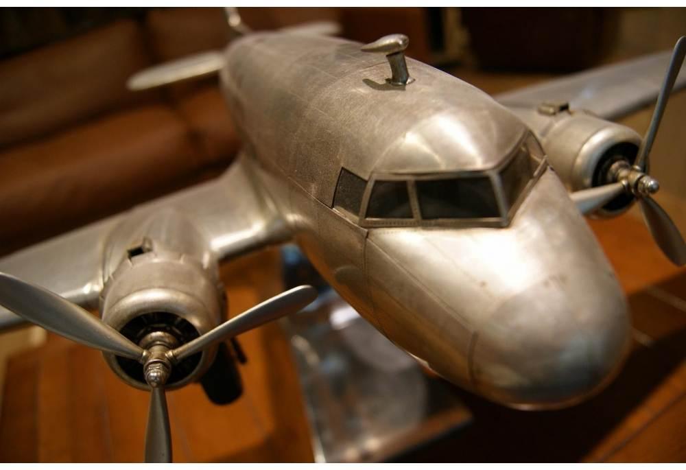 Douglas Dakota DC 3 Aluminum Airplane Model