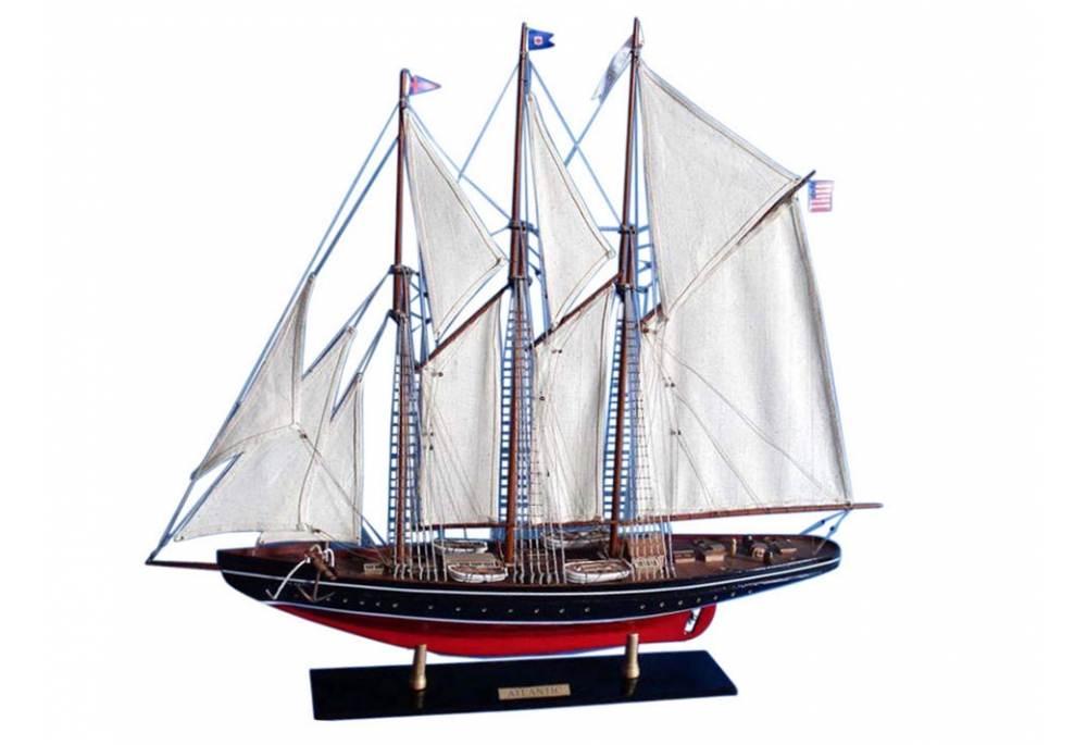 Atlantic Wooden Schooner Model